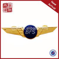 Manufacturer custom high quanlity custom metal pilot wings pin badge