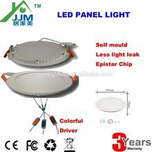3w round slim led panel light,thin led panel light