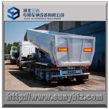 25 cbm, 30 cbm, 35 cbm, 40 cbm tri eixo trailer de despejo