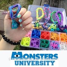 High Quality Elastic Loom Bands Rubber Bracelet DIY for fun