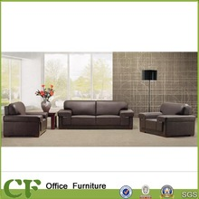 Chuangfan modern leather/PU sofa couch design in balck color