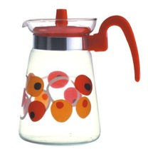 Glass factory promotion low price for hot water glass jug 1200ml(glass factory had passed FDA/EU/SGS)