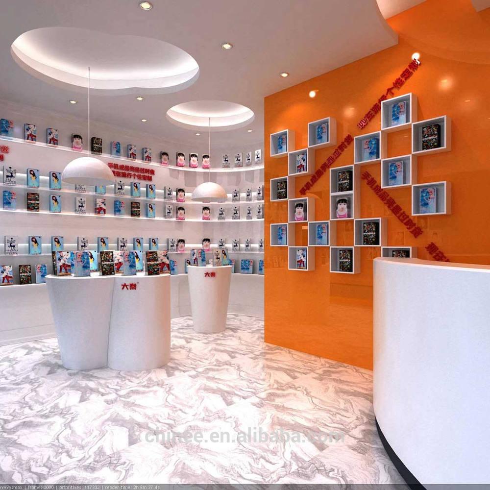 Tienda de telefon a m vil counter para la peque a empresa de celular pegatinas skins escaparate - Mobile shop interior design ideas ...