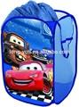 Cute cartoon enfants voitures pop up panier à linge pliable sac à linge pliable facile ouvert 2 polyester,