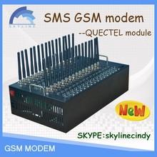 SMS Modem 32 sims for sending bulk sms modem pool imei change bulk sms modem sending AT command sip sms gateway