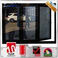 nouveau design de résistance au feu en verre en aluminium portes coulissantes cloison pliante
