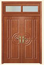 fire rate wood double door/wood double fire door