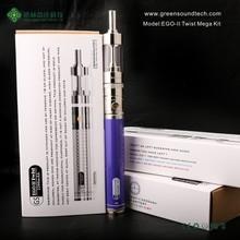 colored smoke e-cig vapor smoking mod e-cig starter kit EGoII Twist e cig dry herb vaporizer