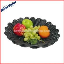 handmade plastic wicker food Basket for restaurant