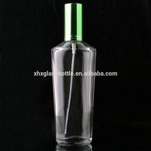 new design 100ml screw neck perfume glass empty bottle with aluminium sprayer for man and woman fragrance