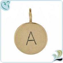 New Design Vintage Handmade Gold Initial Charm For Jewerly Making