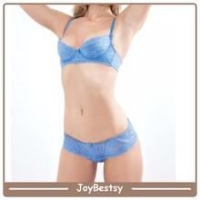 transparente ropa interior de dama sujetador y panty conjunto