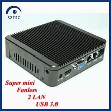 2 LAN J1900 mini pc super small fanless mini pc linux embedded mini itx X86 USB 3.0