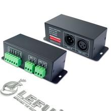DC5V~DC24V,Driving TM1803, TM1804, TM1809, TM1812, UCS1903, UCS1909, UCS1912, UCS2903, UCS2909,SPI LED DMX512 Decoder Controller