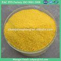 La norma iso de alta pureza ferrico pac-3-b de tratamiento de aguas residuales