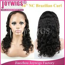 AAAAA grade short hair full lace wig , glueless full lace wig, Brazilian curl full lace wig
