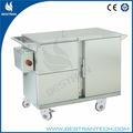 China bt-sft003 304 móvil de acero inoxidable de alimentos de la cesta de alimentos de la cesta de la carretilla carros de comida para la venta