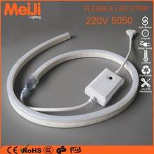 6mm flexi AC220v 120leds/m led rope light 5050