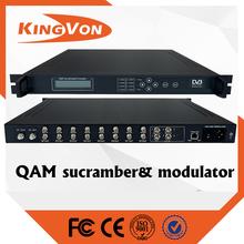 digital catv qam modulators & scrambler with 8 tuner and 4 asi input