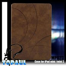 premium leather Folio 3 stand gear PU Case for iPad Mini