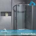 Nuevo aqsc1803cl corredizas de vidrio templado cabina de ducha/cabina de ducha