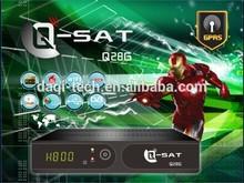 French channel gprs decoder q-sat q28g combo dvb-s2&dvb-t2 satellite receiver.
