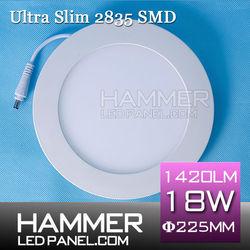 Dia 80-300mm ultra thin slim round led panel light industry slim led pane lights china suppier 3w/6w/9w/12w/15w/18w/25w