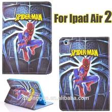 2015 new design spiderman Ironman captain America flip cases for ipad air 2