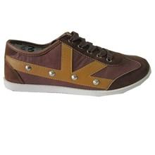 New model canvas causal shoes, brown color canvas shoes men