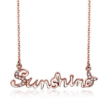 100%Sterling Silver Neck Necklace Sunshine Charm High Women 925 Silver Necklace