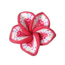 """Polymer Clay Cabochon Flower Red Dot Pattern 18mm x18mm( 6/8"""" x 6/8"""") - 15mm x15mm( 5/8"""" x 5/8""""), 50 PCs"""