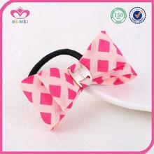 Rhombus shape fabric hair accessories for girls