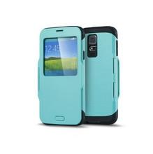 Wholesale Hybrid S View Sleeping Flip TPU Case for Samsung S5 i9600,For Samsung S5 TPU Flip Case