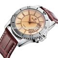 skone 9144 el más popular de la brújula reloj de ocio los hombres correa de cuero