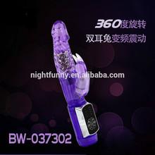 Rabbit FM vibration rotation waterproof rechargeable vibrator women sex toys g-spot vibrators