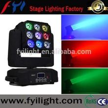 3x3 LED Matrix Moving Head Light, 9x12W LED Magic Panel