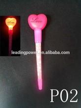 novelty gift / LED pen with led light / heart shape P02