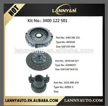 Auto truck clutch repair kit 3400122501 , clutch cover 3482081232 , clutch disc 1878634027 , bearing 3151000278