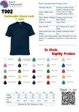 Fashionable Round O Neck T-Shirt /Custom Logo Design Printing Cotton Tee T-Shirt