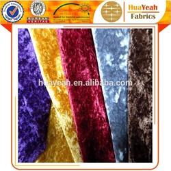 crushed velvet home textile indian design sofa fabric