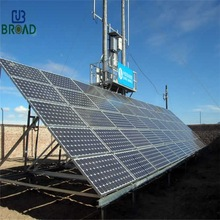 Ground mount Pile driven solar mounting system
