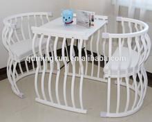 white oak wooden kid crib made in China