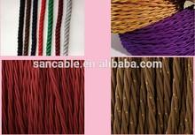 copper fibric lighting textile textile braided cable