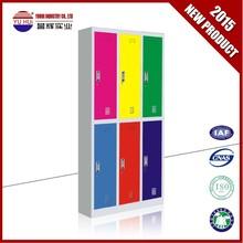 good quality 6 doors steel structure metal furniture wardrobe locker