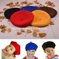 100% lã crianças boina boina chapéu para as crianças
