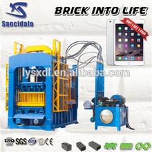 QT6-15A Insulated concrete hollow block machine made in China/ breeze block algeria/cement brick making machine