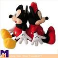 2pcs/lot 30cm lindo mini rato mickey e minnie mouse de pelúcia animais de pelúcia brinquedos para as crianças do presente