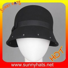 Handmade Wool Felt Around Metal Beautiful Cloche Hat Wholesale