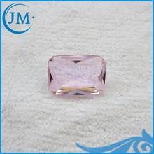 Pink Decorative Glass Gems Rectangle Diamond