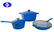 colored enameled cast iron cookware